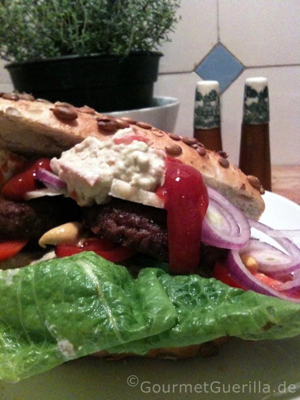 Neuschnee und Veggi-Burger