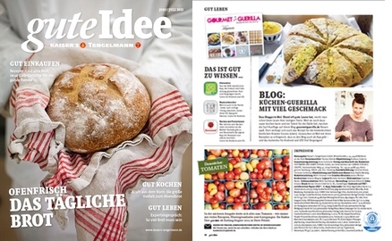 GourmetGuerilla in Tengelmann Kundenmagazin guteIdee |GourmetGuerilla.de