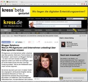 Kress Blogger Relations Mel Buml |GourmetGuerilla.de