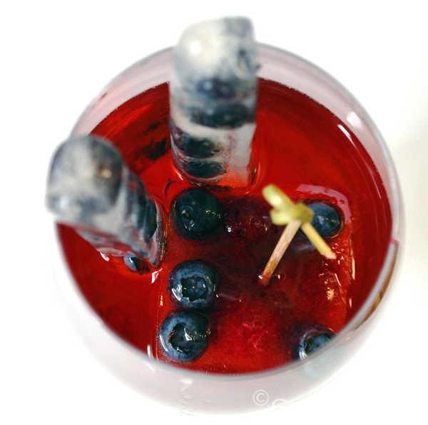 Piscine mit Beeren-Eiswürfel |GourmetGuerilla.de