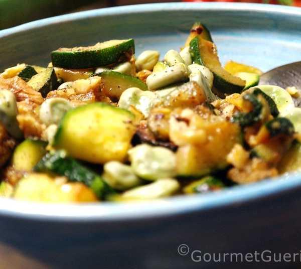 Salat von Dicken Bohnen und Zucchini |GourmetGuerilla.de