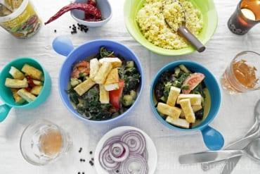 Scharfer Tofu mit Spinat  GourmetGuerilla.de