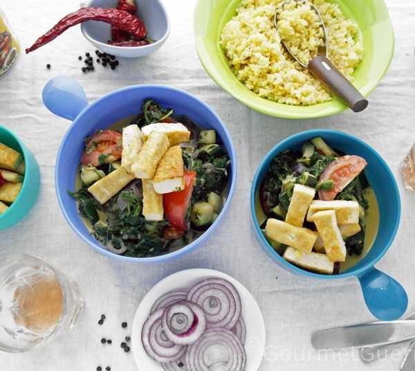 Scharfer Tofu mit Spinat |GourmetGuerilla.de