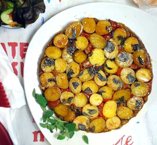 Tarte Tartin Suprise #rezept #gourmetguerilla #vegan