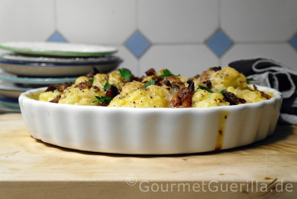 Blumenkohlgratin mit Bacon und Blauschimmelkäse - der beste vonne Welt |GourmetGuerillla.de