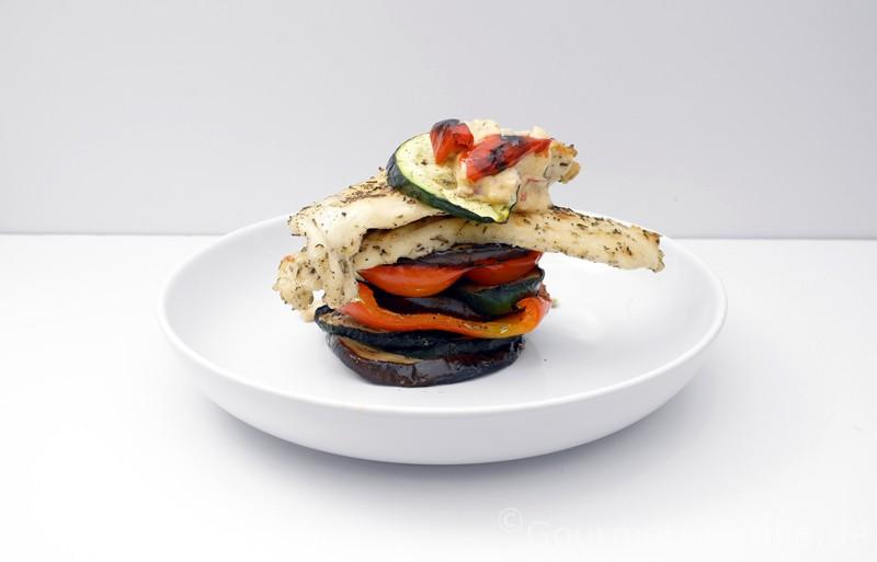 Schichtarbeit vom Hühnchen mit Gemüse |GourmetGuerilla