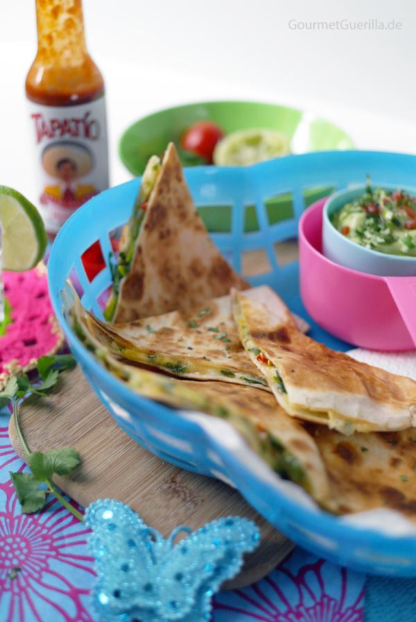 Schnelle Quesadillas mit Guacamole nach Jamie Oliver