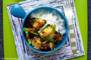 Tofu in schwarzer Pfeffersoße #rezept #gourmetguerilla #vegan