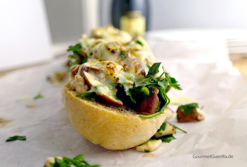 Champignon-Baguette #rezept #gourmetguerilla
