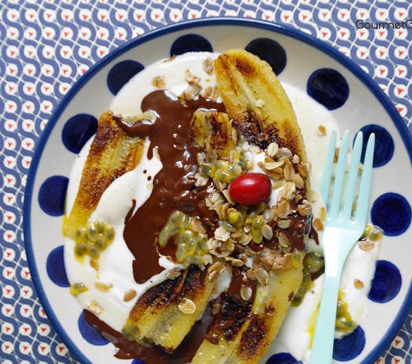 Frühstücks Bananen-Split #rezept #gourmetguerilla