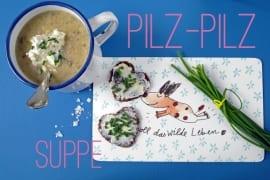 Pilzsuppe mit Apfel Schnittlauch-Schmand #rezept #gourmetguerilla