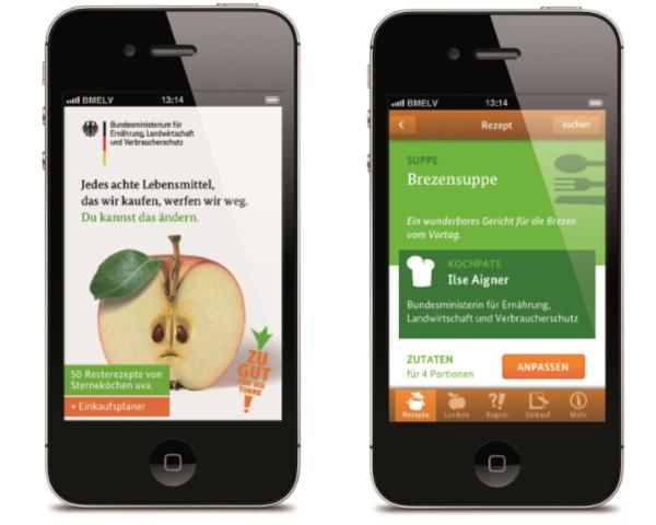 App zu gut fuer die Tonne Lebensmittel nicht mehr wegwerfen