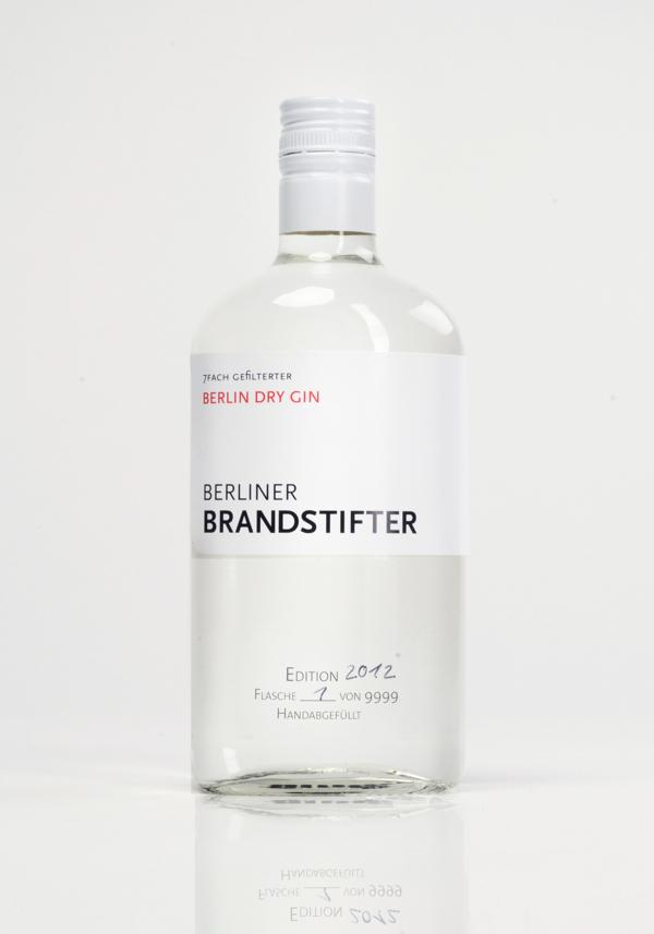 Flasche Berlin Dry Gin Berliner Brandstifter