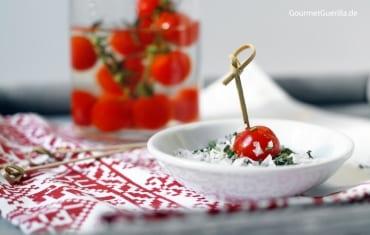 Beschwippste Tomaten #rezept #gourmetguerilla #appetizer