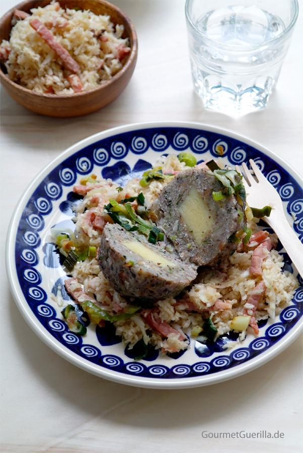 Buchweizenknoedel mit Lauchschmalz #rezept #gourmetguerilla #südtirol