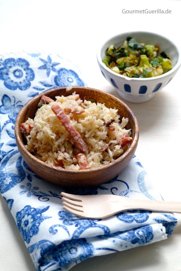 Speckkrautsalat und Lauchschmalz #rezept #gourmetguerilla #südtirol