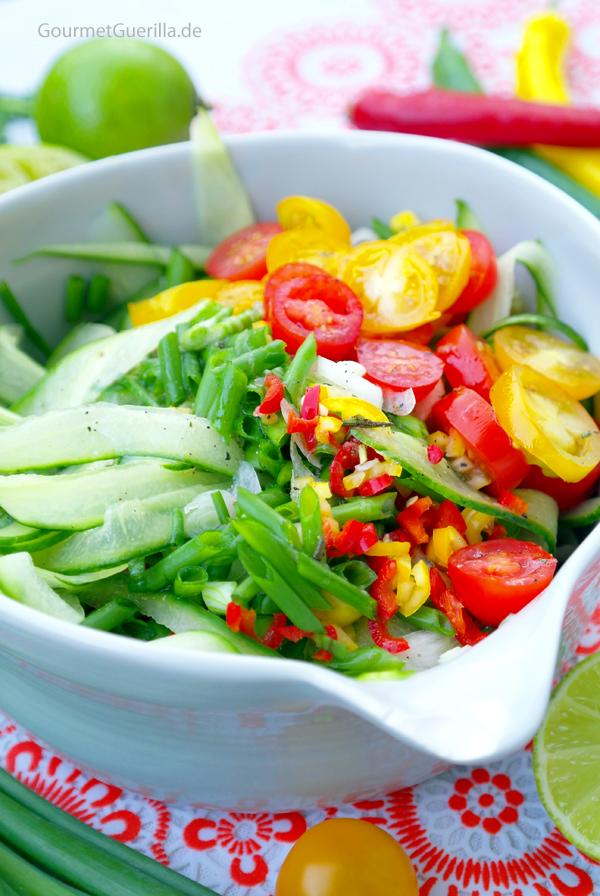 Scharfer Gurkensalat #gourmetguerilla #rezept #vegan #hot