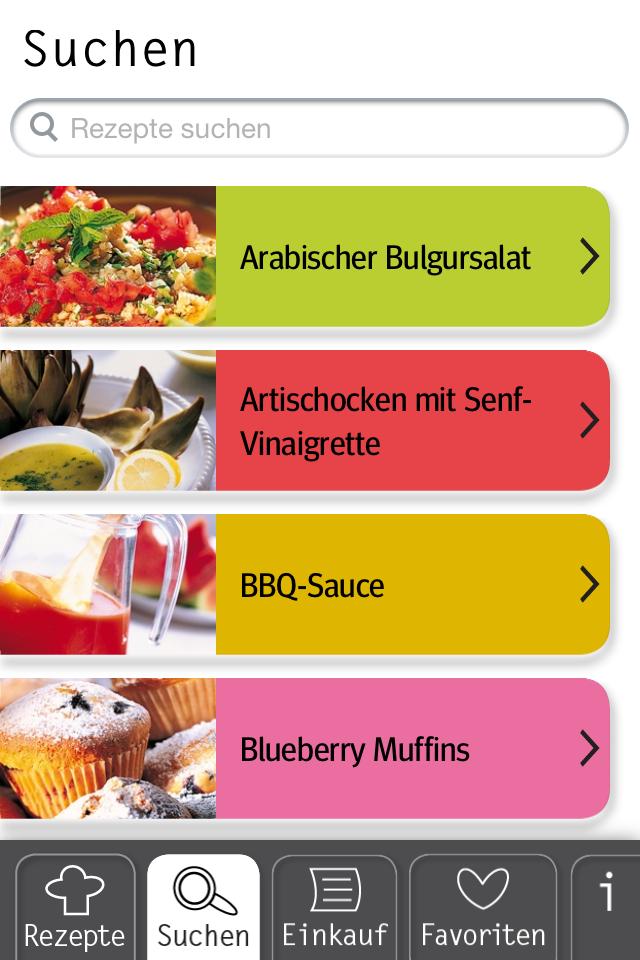 Basic Cooking App Rezeptsuche