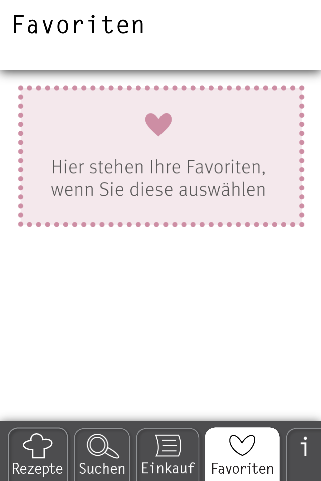 Basic Cooking App Rezept Favoriten