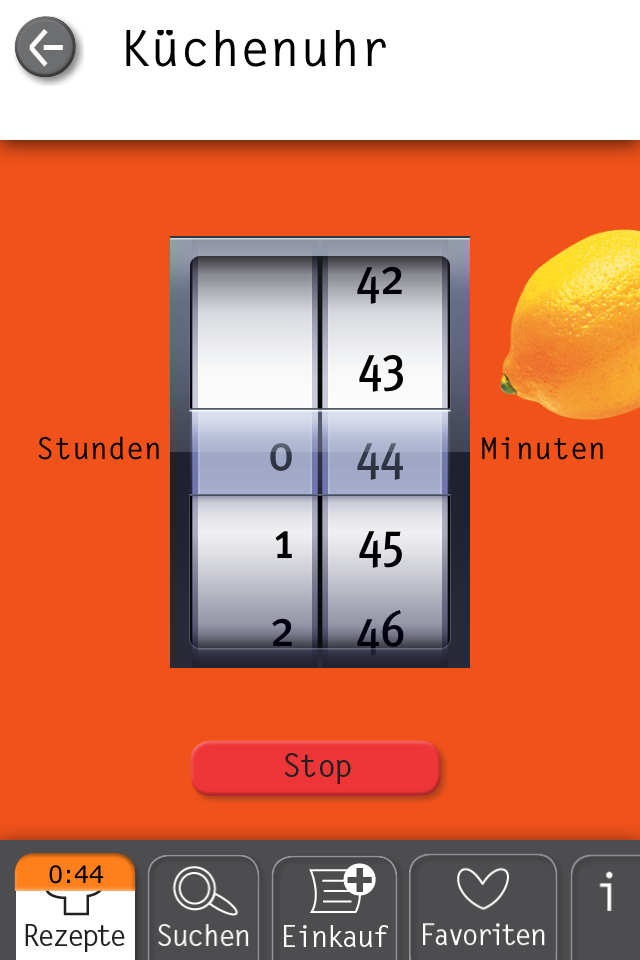 Basic Cooking App Küchenuhr