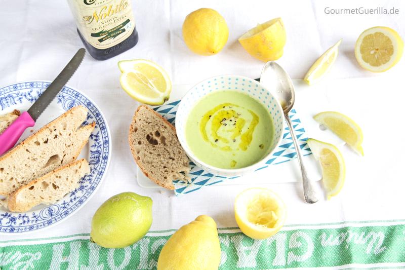 Zucchini-Zitronen-Suppe #rezept #gourmetguerilla #raw