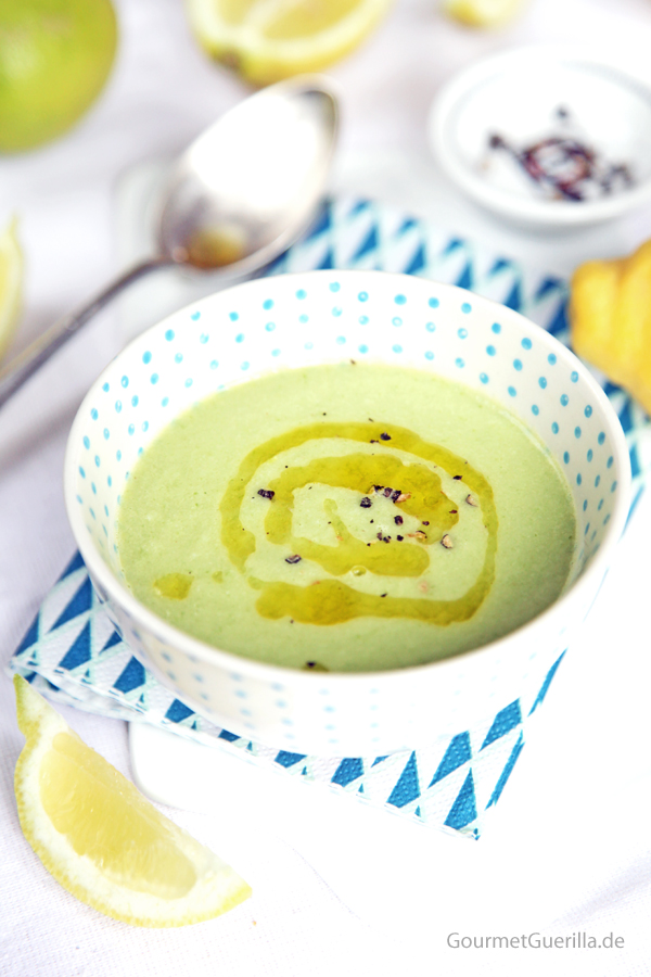 Zucchini-Zitronen-Suppe #rezept #gourmetguerilla #raw #suppe