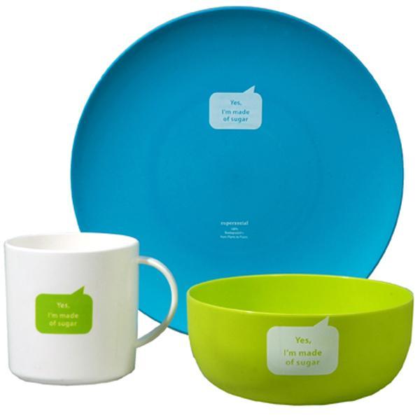 Nachhaltiges Kindergeschirr zuperzozial-starter-kit-set-blau