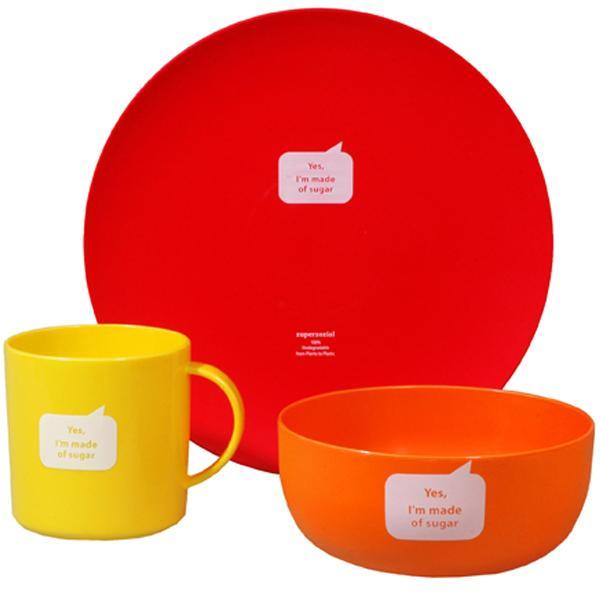 Nachhaltiges Kindergeschirr zuperzozial-starter-kit-set-rot
