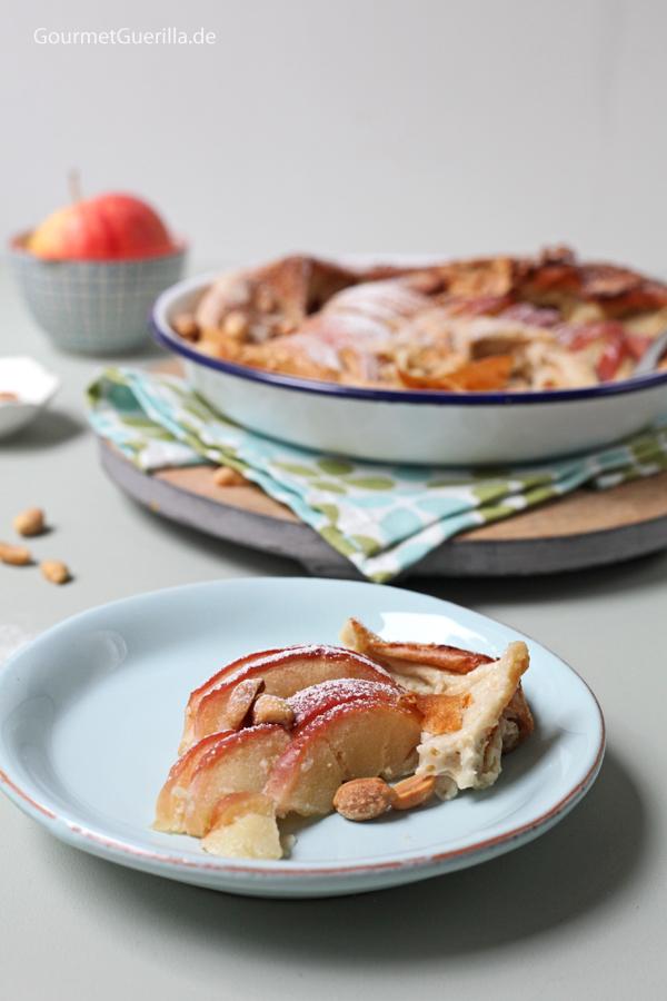 Clafoutis mit Äpfeln und Erdnüssen