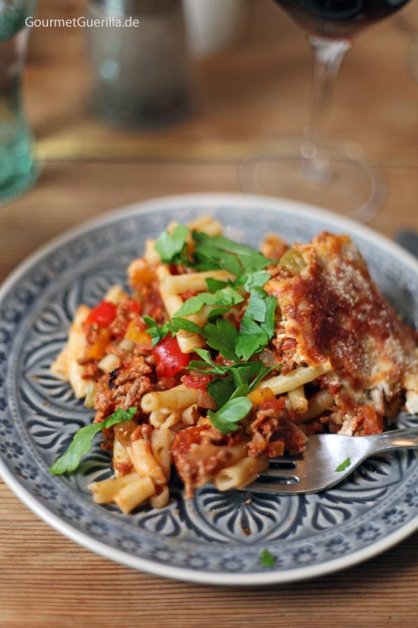 Makkaroni-Lasagne #rezept #gourmetGuerilla #familienessen