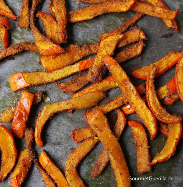 Kürbispommes im Ofen #gourmetguerilla #rezept