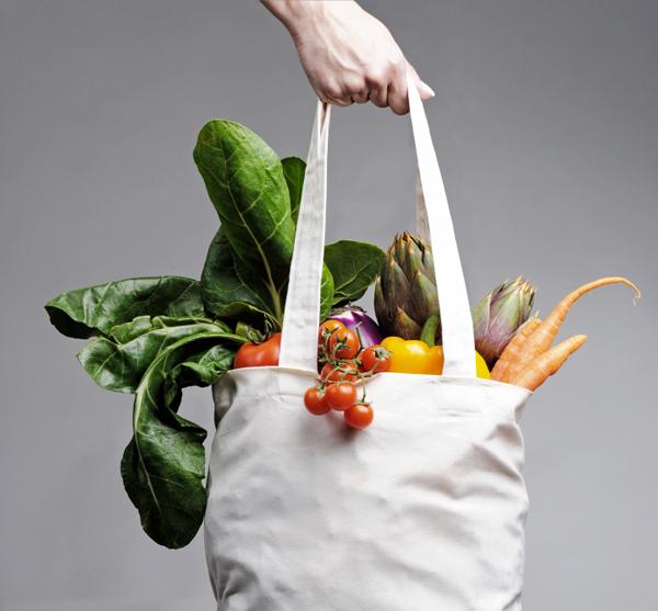 EInkaufstasche mit Gemüse Glutenfrei