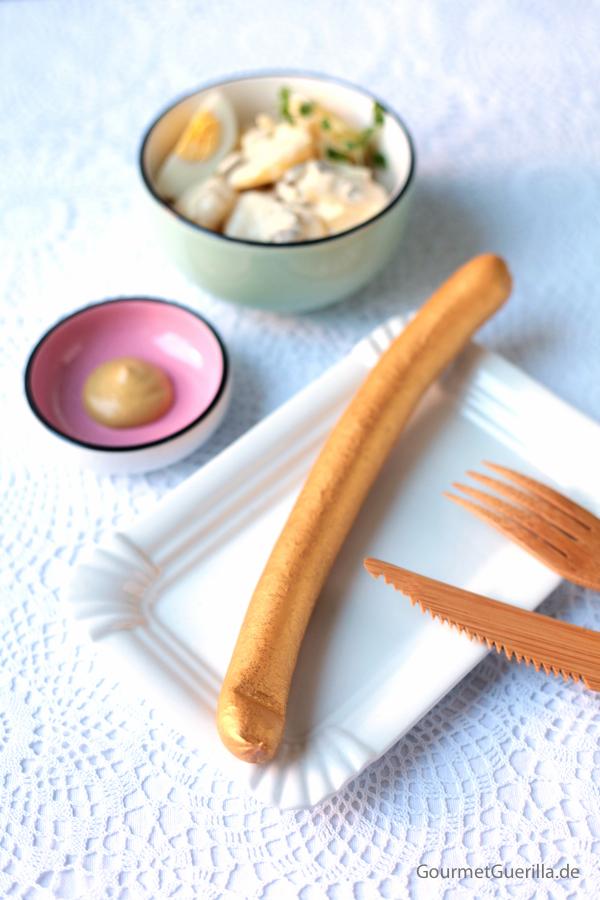 Würstchen mit Kartoffelsalat #rezept #gourmetguerilla