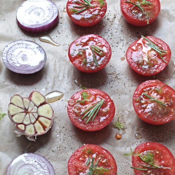 Gebackene Limetten-Tomaten