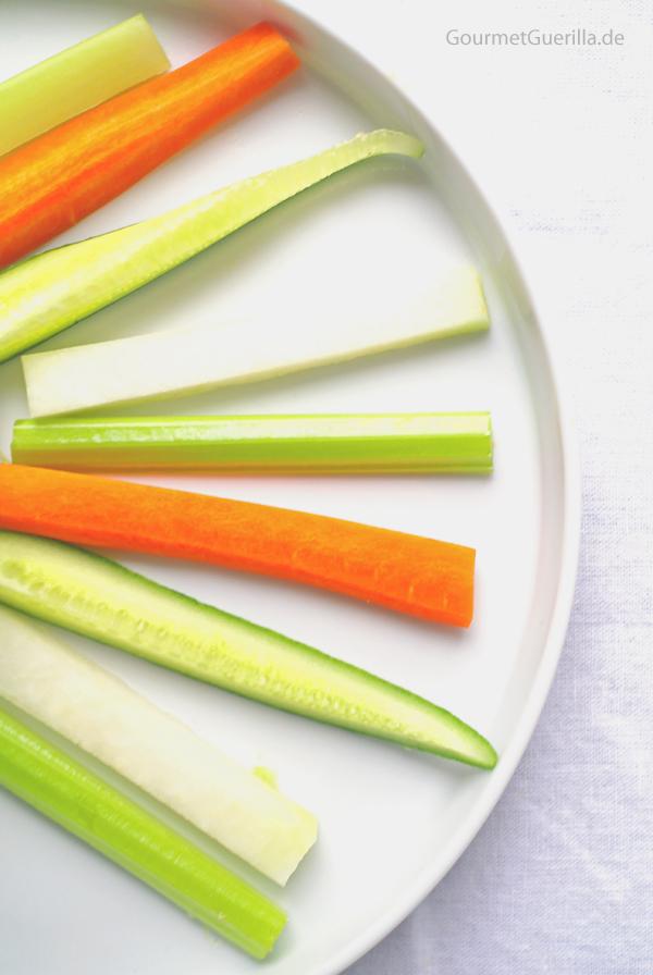 Gemüsesticks #gourmetguerilla.de