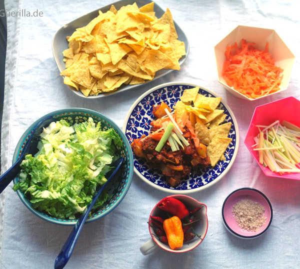 Schaschlikpfanne mit getarntem Gemüse #rezept #gourmetguerilla