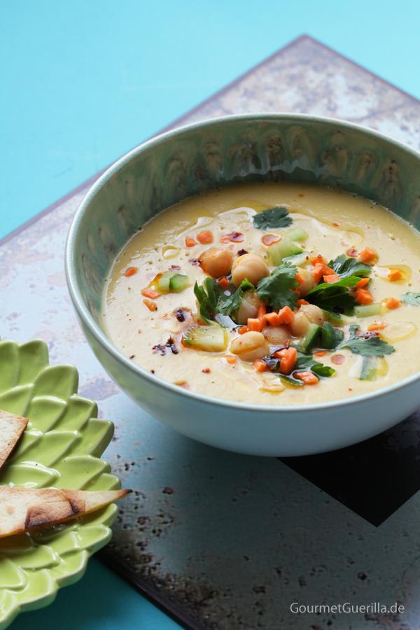 Vegan & blitzschnell: Samtige Hummus-Suppe |GourmetGuerilla.de