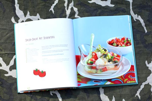 Vegan fasten Salsa Salat