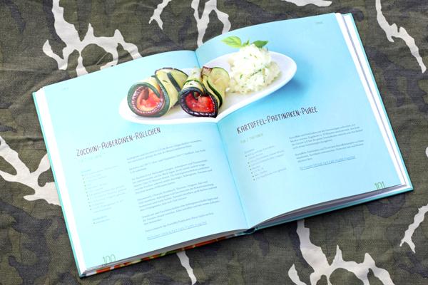 Vegan fasten Zucchini-Auberginen-Röllchen