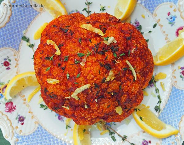 Harissa Blumenkohl #rezept #gourmetguerilla #vegan #antipasti