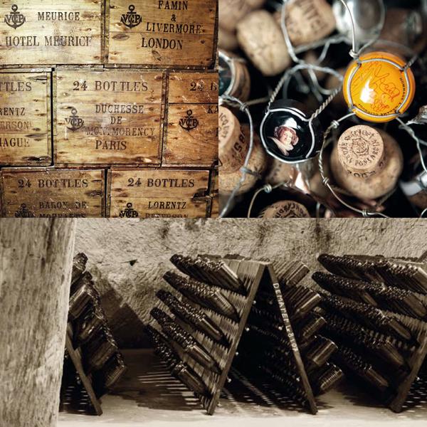 Veuve Clicquot Flaschen und Keller