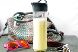 Mandel-Smoothie mit Safran und Kardamom to go #gourmetguerilla #smoothie #rezept #togo #smoothiemaker