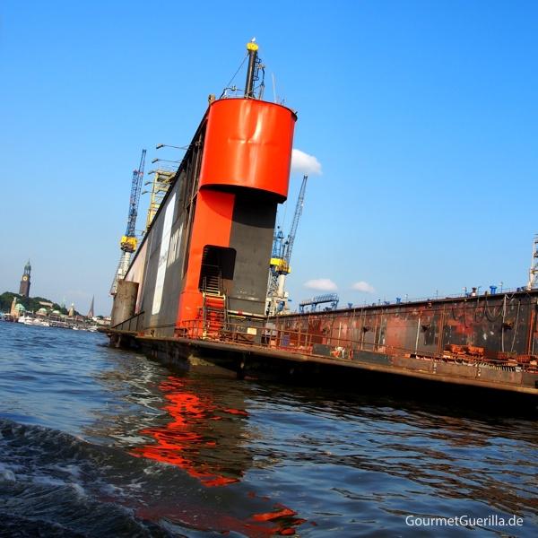 Frau Hedi Hafenrundfahrt Hamburg Tipps Hafen Blohm + Voss #gourmetguerilla