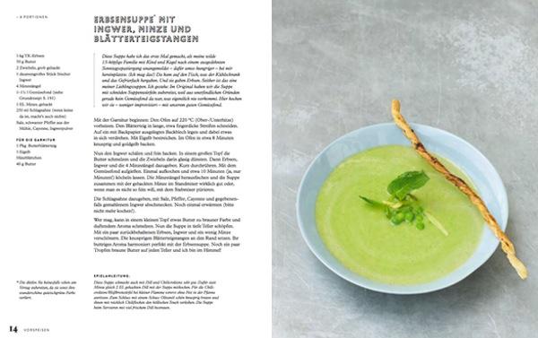 Eschi Fiege Mittagstisch Erbesensuppe mit Minze #gourmetguerilla #leckerlesen #kochbuch