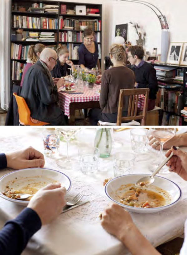 Eschi Fiege Mittagstisch Gäste #gourmetguerilla #leckerlesen #kochbuch