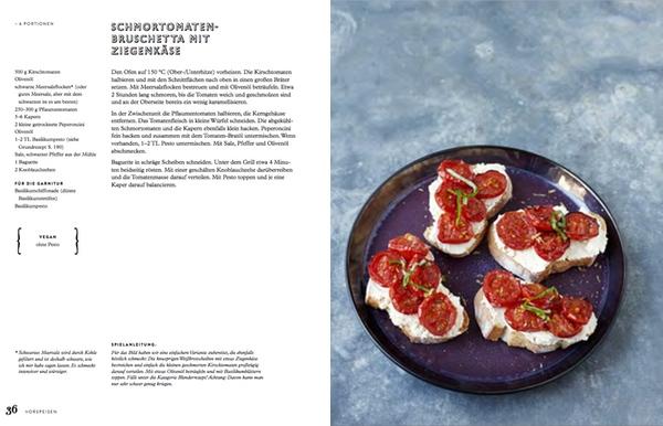 Eschi Fiege SchmortomatenBruschetta mit Ziegenkäse #gourmetguerilla #leckerlesen #kochbuch