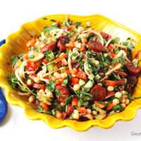 Kichererbsensalat mit Chorizo #rezept #gourmetguerilla #salat #sattessen