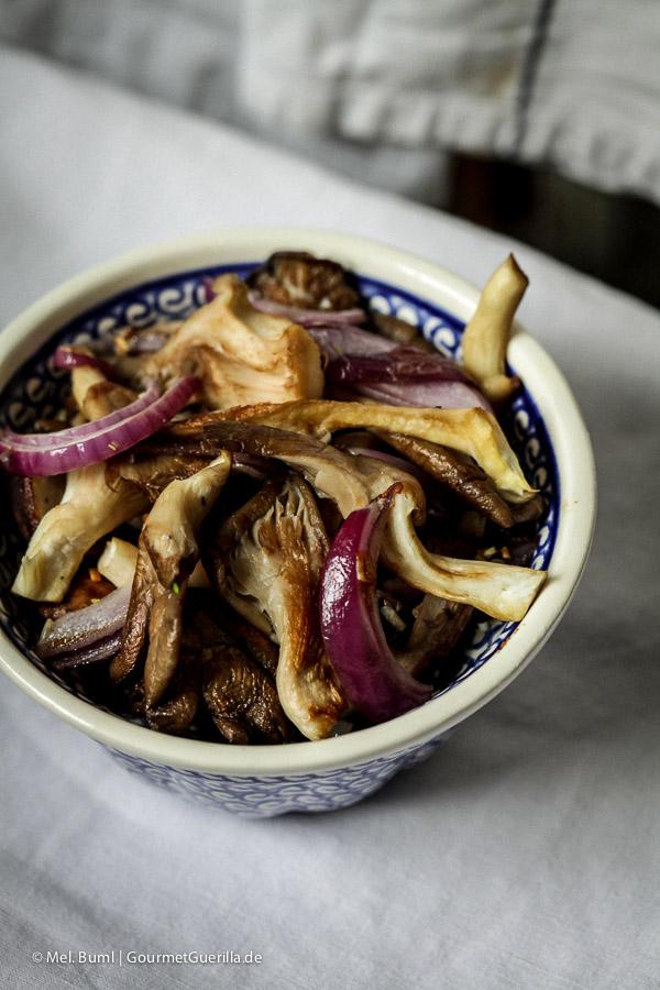 Geberatene Pilze #rezept |GourmetGuerilla.de