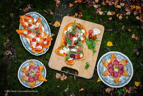 Weihnachtspizza: Festliche Trilogie von Salami-Sternen, Mozzarella-Engeln und Prosciutto-Feigen-Glocken |GourmetGuerilla.de