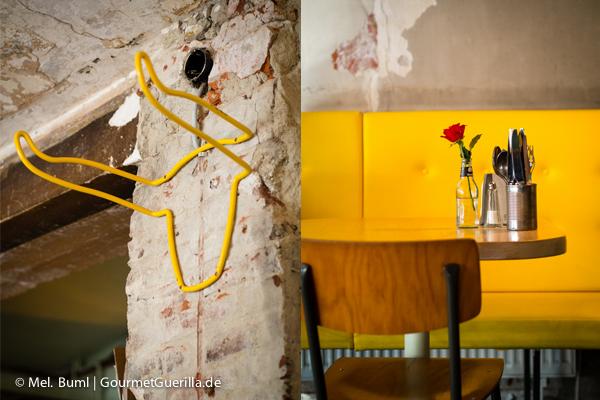 Garderobe und Tisch im Ottos Burger Grindelhof Hamburg |GourmetGuerilla.de
